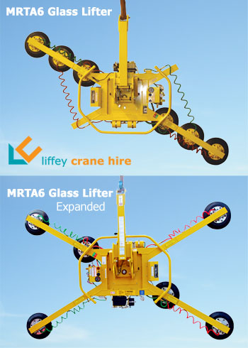 MRTA6 500kg Quadra-Tilt Vacuum Glass Lifter for Hire