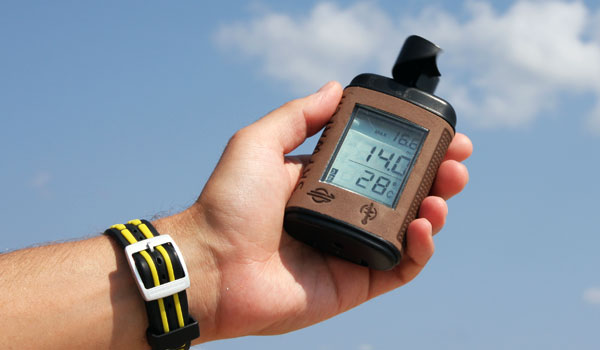 Use an anemometer to measure wind speed for safely operating cranes in high winds