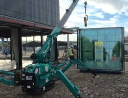 Spider Crane Hire - the Maeda MC285 is used in a wide range of applications