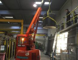 Mini Crane Hire - our cranes in action
