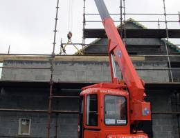 Mini Crane in action on a domestic construction site