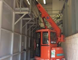 Mini Crane Hire - our mini cranes fit in confined spaces