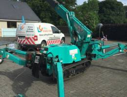 Spider Crane Hire - our Maeda MC285 is one of the most popular models of mini crane
