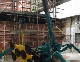 Spider Crane Hire - the Maeda MC285 can be used indoors, as it fits through most doorways