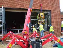 Mini Spider Crane Hire in Dublin, Kildare, Wicklow and across Ireland