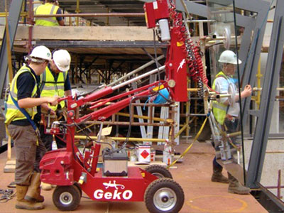 Geko 350 PV Glazing Robot for Hire for glass and window lifting