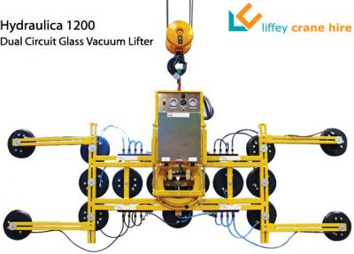 Hydraulica 1200 Dual Circuit Glass Vacuum Lifter for Hire