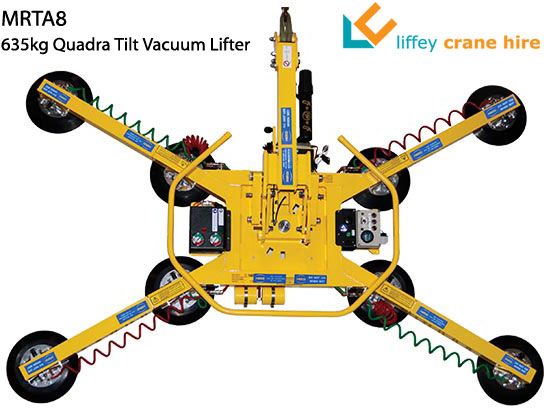 MRTA8 Quadra Tilt vacuum glass lifter for hire